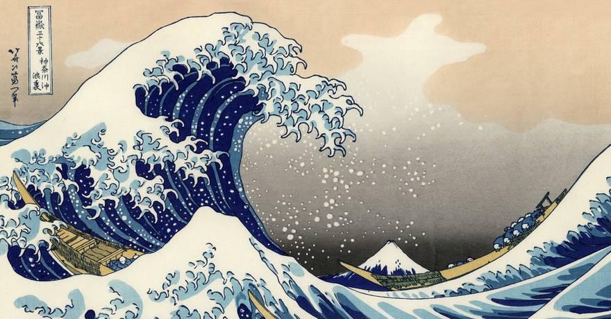 La grande vague de Kanagawa Hokusai KM